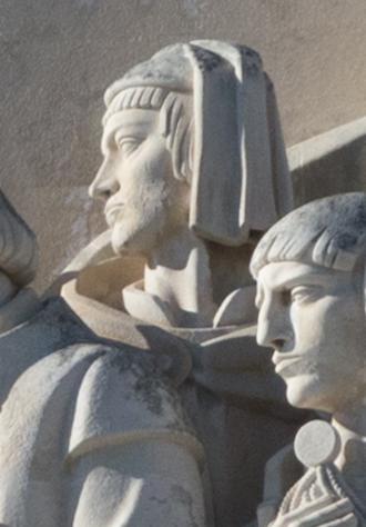 Nicolau Coelho - Effigy of Nicolau Coelho in the Monument of the Discoveries, in Lisbon, Portugal