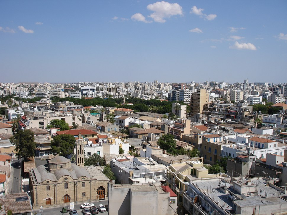 Nicosia panorama by day