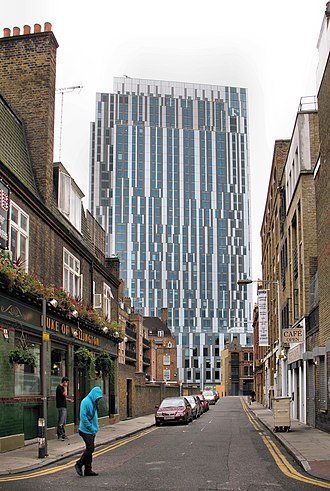 Dormitory - Prodigy Living Spitalfields in London, England, is the third tallest student accommodation building in the world.