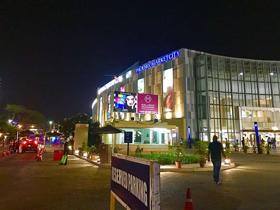 Night view of Phoenix market city