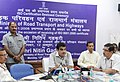Nitin Gadkari addressing at the receiving of the ISO 9001 2008 Certificate, acquired by the Ministry of Road Transport & Highways, in New Delhi. The Secretary, Ministry of Road Transport and Highways.jpg