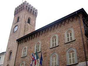 Nizza Monferrato - The town hall with its bell tower.