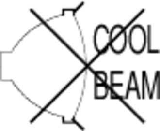 Multifaceted reflector - IEC 60598 No Cool Beam symbol