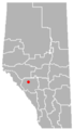 Nordegg, Alberta Location.png