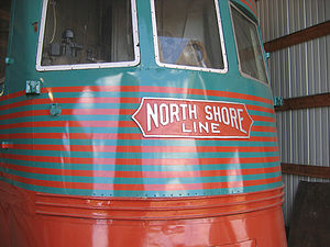 Electroliner - Image: North Shore Electroliner at IRM front view