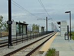 Northwest at South Jordan Parkway station platforms, Apr 16.jpg