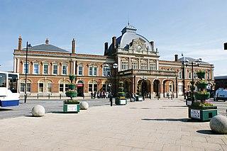 Norwich railway station Railway station in Norwich, England