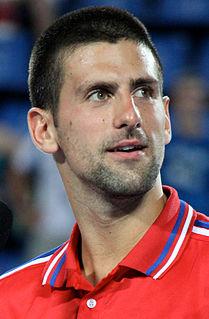 Novak Djokovic Serbian tennis player