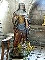 Noyon (60), cathédrale Notre-Dame, bas-côté nord (chapelles), statue de sainte Godeberthe.jpg