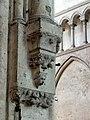 Noyon (60), cathédrale Notre-Dame, nef, doubleau vers la croisée du transept, cul-de-lampe côté nord.jpg