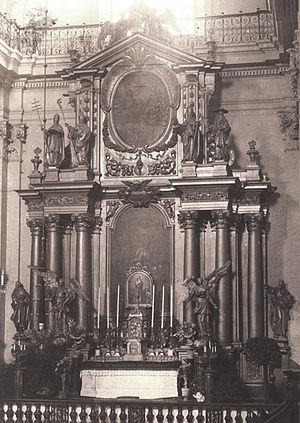 Holy Cross Church, Warsaw - National Altar (Ołtarz Ojczyzny), symbolizing national unity, was built ca. 1700 to a design by Tylman Gamerski.