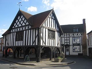 Newent town in Gloucestershire, England