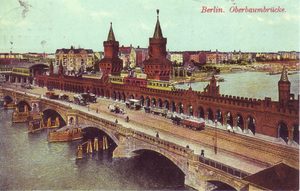 English: View of Oberbaumbrücke in Berlin, aft...