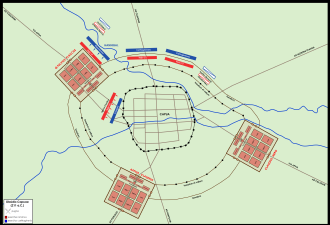 Siege of Capua (211 BC) - Hannibal's assault on the Roman siege lines at Capua