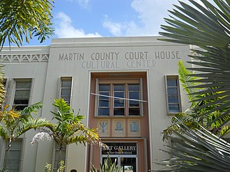 Old Martin County Courthouse - Front (north)entrance detail