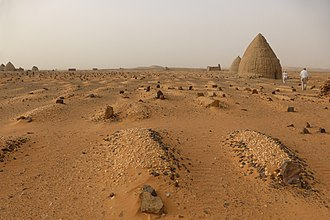 Old Dongola - The Islamic cemetery with qubbas