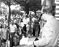 Old South Days at University of Texas at Arlington; Dr. Charles Van Cleve delivers secession speech (10006527).jpg