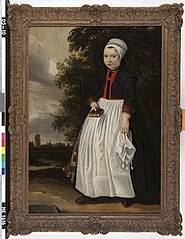 Een boerenmeisje uit West-Friesland