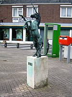 Oostburg Unicorn after letter boxes turned orange.JPG