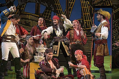 Opera Australia's 2007 touring production of Pirates, with Anthony Warlow as the Pirate King Opera Australia's Pirates of Penzance.jpg