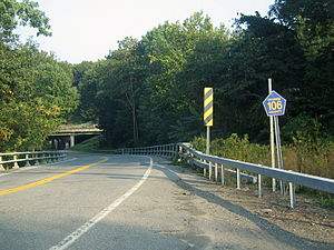 County Route 106 (Orange County, New York) - CR 106 underpass near the western terminus.