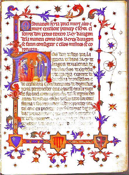 SEMINARIO LA MONEDA D´UN REI PROSCRIT: PERE IV A CATALUNYA (1464-1466) - Página 2 441px-Ordinacion_feyta_por_el_muyt_alto_e_muyt_excellent_Princep_e_Senyor_el_Senyor_Don_Pedro_tercero_Rey_dAragon_copy