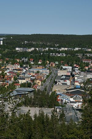 Örnsköldsvik - The European route E4 runs through downtown Örnsköldsvik.