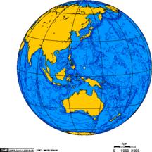 帛琉-地理-Orthographic projection centred over Palau
