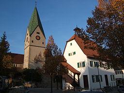 Nikomedeskirche und Altes Rathaus der Gemeinde Hildrizhausen