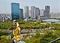 Osaka Osaka-jo Hauptturm Blick auf den Osaka Business Park 4.jpg