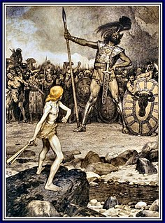 Goliath A Philistine giant in the Bible