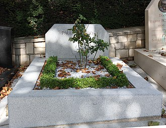 Paul Éluard - Grave of surrealist Paul Éluard in Père Lachaise Cemetery, Paris