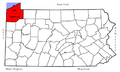 PA - Map of Pennsylvania highlighting Erie and Crawford Counties.png