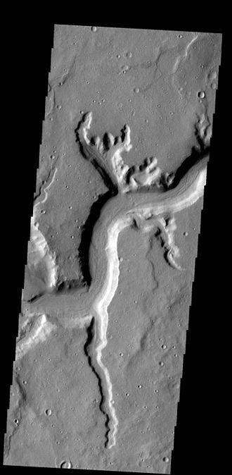 Rille - Mamers Valles rille on Mars.