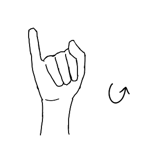 polish sign language letter j