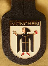 Pocket badge of the Munich police force