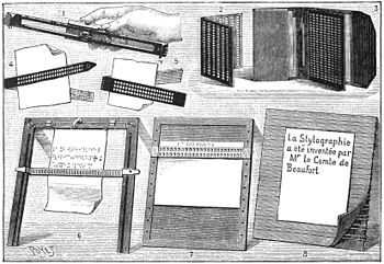 PSM V33 D664 Various writing apparatus for the blind late 19th century.jpg