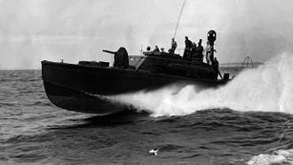 PT boat - PT-259 underway near Midway c.1944