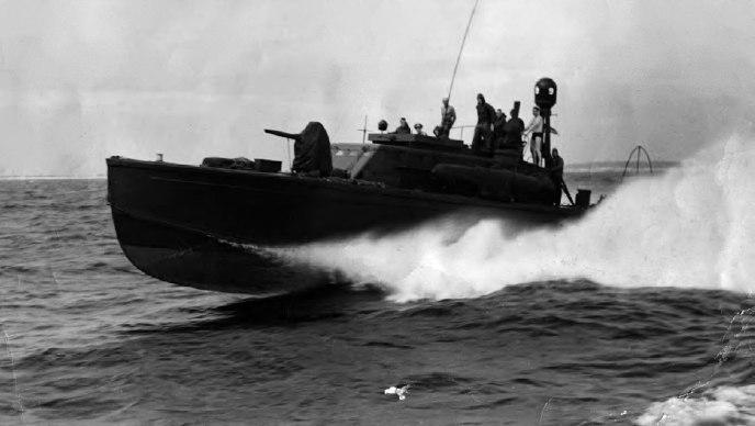 PT boat underway near Midway c1942