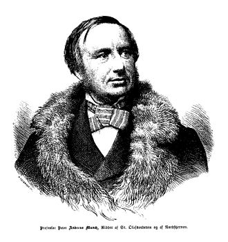 Peter Andreas Munch - P. A. Munch.   Engraving by W. Obermann