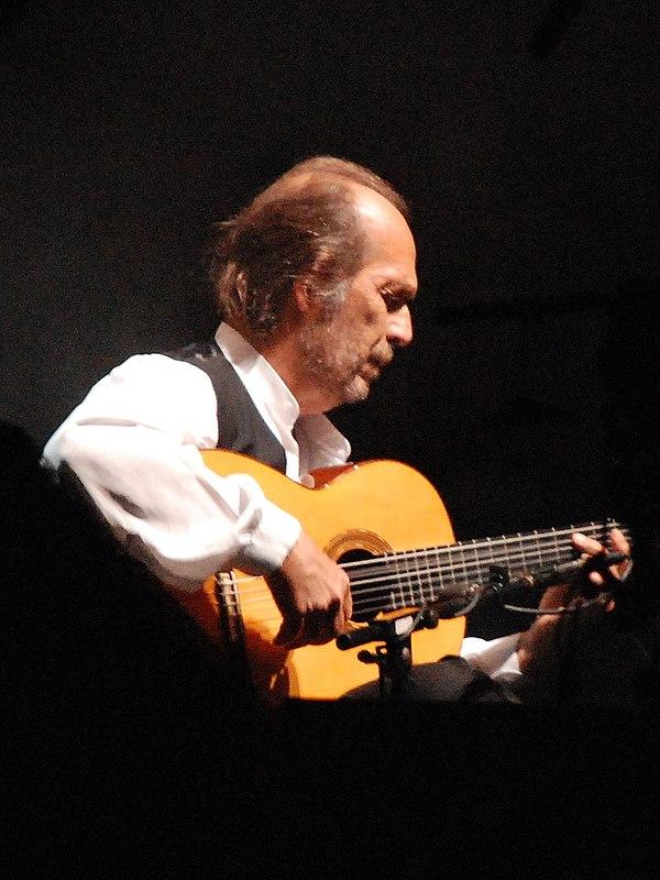 Photo Paco de Lucía via Wikidata