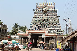 Cuddalore - The temple tower of Pataleeswarar Temple in Cuddalore