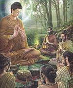 Paintings of Life of Gautama Buddha - Asalha Puja.jpg