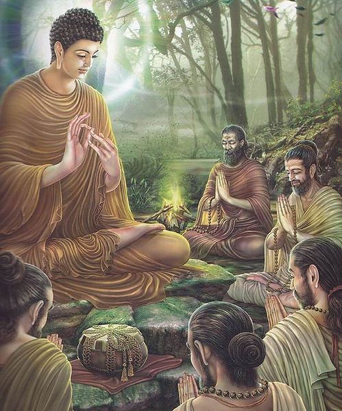File:Paintings of Life of Gautama Buddha - Asalha Puja.jpg