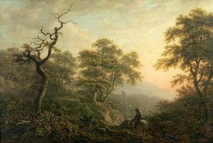 Nicholas Pocock - Landscape with figures (Museo del Prado)