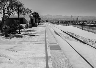 Palm Springs station Railroad station serving Palm Springs, California