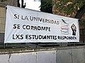 """Pancarta contra el """"Caso Máster"""" en la URJC de Vicálvaro.jpg"""