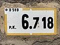 Panonceau PK 6,718 Route D51b Route Cuétant St Jean Veyle 3.jpg