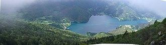 Lago di Ledro - Image: Panorama Lago di Ledro