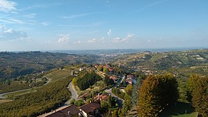 Alba, Piedmont - View over Alba in the distance from Rodello's hilltop
